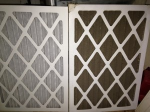 Your HVAC system can't breathe thru a clogged filter.