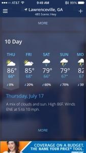 July Fall Forecast for Gwinnett County!