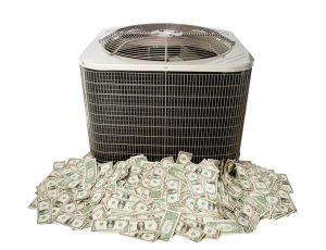 ac system sitting on top of money